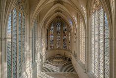 The interior of the Sainte-Chapelle de Vincennes.