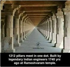 Rameshvaram Temple-1,212 pillars that meet in a vision of infinity. Built 1,740 years ago