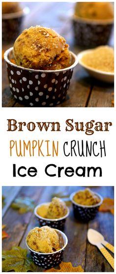 Brown Sugar Pumpkin Crunch Ice Cream