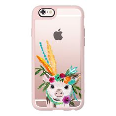 Boho pig miss piggy floral flowers bouquet crown feathers by Bari J. -... ($40) ❤ liked on Polyvore featuring accessories, tech accessories, iphone case, iphone cases, flower crown, floral iphone case, iphone hard case and flower iphone case