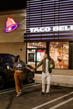 This Couple's Engagement Photo Shoot Ended Up at Taco Bell — Relatable Car Engagement Photos, Engagement Couple, Engagement Session, Couple In Car, Couple Goals, Daily Life Hacks, Couple Moments, Mixed Couples, Cool Poses