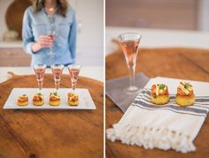 We love this fizz and fare pairing from our talented Austin Caterers. A. Wonderly Photography captured all these bite-sized treats prepped at Nest Vacation Rentals Stepping Rock. Austin Catering fare: PAELLA CAKE TOPPED WITH PAPRIKA SHRIMP AND SAFFRON AIOLI fizz: CAVA ROSADO SPANISH SPARKLING ROSE.