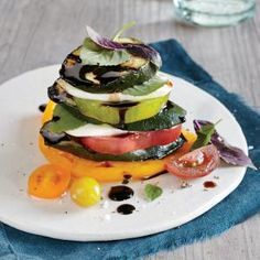 Grilled Zucchini Caprese Stacks | MyRecipes.com