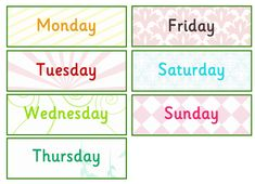 Days of the Week Labels | Free EYFS / KS1 Resources for Teachers