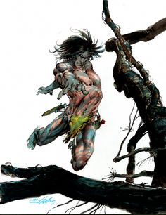 Neal Adams: Tarzan painting Comic Art
