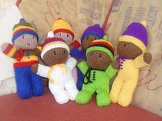 Knit doll babies by Red Heart pattern