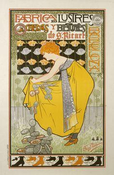 CETTE BAINS DE MER toussaint roussy VINTAGE AD POSTER collectors rare 24X36