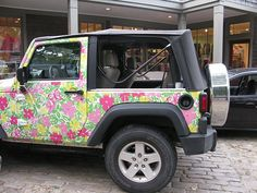 Lilly Pulitzer car.