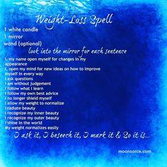Weight loss spell