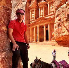Hay gente que cumple sus sueños. Solo necesitas constancia y dedicación... 😍💭✈ Este es el caso de Marco quien ha hecho realidad el suyo viajando a Jordania y visitando la Ciudad Perdida de #Petra⠀