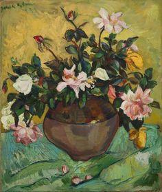 Irma Stern 'Vase of roses'
