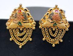 22 K Solid Gold Earrings Ear Studs Jewelry | eBay  www.tribalexport.com