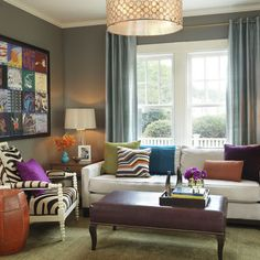 Living Room gettysburg gray by benjamin moore Design Ideas, Pictures, Remodel and Decor