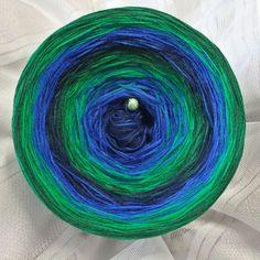 Wunschwicklung *Eva* Hochbausch: 8 Farben Mix im Wechsel: marine königsblau grasgrün dunkelgrün marine königsblau grasgrün dunkelgrün