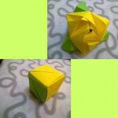 Куб-роза, оригами