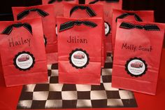 cars themed goodie bags - Google Search