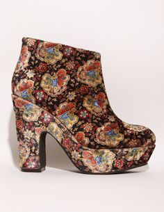 Tapestry Velvet Boots, $161, available at Pixie Market