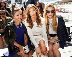 Katie-Cassidy-Houghton-Front Row at Fashion Week