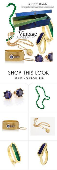 """vintage jewelry"" by maria-maldonado ❤ liked on Polyvore featuring moda, Eddie Borgo, Monica Vinader, vintage, artdeco y vintagejewelry"