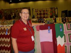 Barbara Price won a blue ribbon at the Mississippi State Fair for her Tunisian Crochet Sampler afghan (10/24/2011)