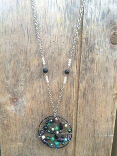 Original handmade dreamcatcher necklace $68 at https://www.etsy.com/ca/shop/Relovedco