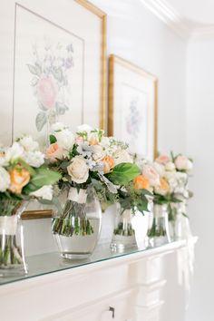 loose bridal bouquet of café au lait dahlias, white anemone, light