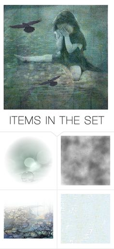 """as the raven flys..."" by journeyon ❤ liked on Polyvore featuring art"