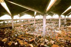 Vista interior, Mercado Libertad, calz Javier Mina 52, San Juan de Dios, Guadalajara, Jalisco, México 1958-1960  Arq. Alejandro Zohn -   Interior view, Mercado Libertad, calz Javier Mina 52, San Juan de Dios, Guadalajara, Jalisco, Mexico 1958-1960