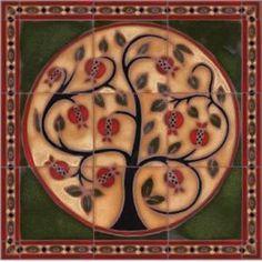 Pomegranate Tree Mural
