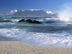 Photographic Print: Poster of Table Mountain, Cape Town, South Africa by Peter Adams : Table Mountain Cape Town, Cape Town South Africa, Beach Landscape, Travel Images, Africa Travel, Color Photography, Scenic Photography, Beautiful World, Beautiful Places