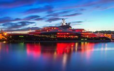 Download wallpapers Serene, pier, luxury yacht, superyacht