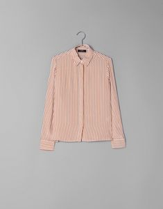 Shirt with vent and buttons - Trousers - Bershka Ukraine Ukraine, Bell Sleeve Top, Trousers, Buttons, Shirts, Fall, Women, Fashion, Blouse