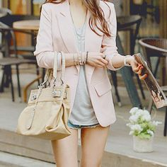 I love the purse and the blazer, not so much the short with it though