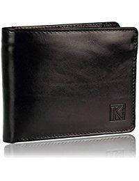 027b970bb62 TK 1979 - ZIP - Portefeuille noir pour homme en cuir Italien 13 x 10 cm -  Noir