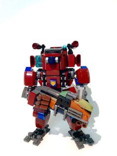 Lego Titanfall 2. Monarch titan. Lego Titanfall, Lego Mechs, Lego Guns, Lego Design, Lego Models, Lego Creations, Legos, Man, Robot
