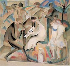 Canal~Art  « Concert dans un jardin » Tableau de l'artiste Alice Bailly -1920-