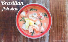 "This Brazilian fish stew (also known as Moqueca) is ""exotic and comforting."""