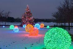 Outdoor Lighting: How to Make Christmas Nice Light Balls! Outdoor Lighting