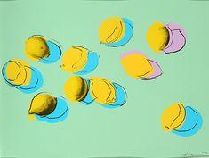 Space Fruit: Lemons (Andy Warhol, 1978)️More Pins Like This At #FOSTERGINGER @ Pinterest️