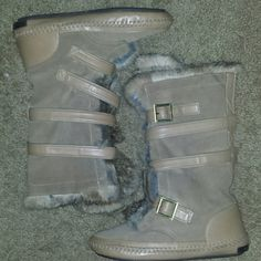 Tory Burch additional pictures 100% rabbit fur, leather suede moccasin boots Tory Burch Shoes Winter & Rain Boots