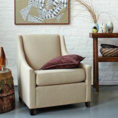 Sweep Armchair - Solids #westelm in Basketweave Iron or Pebbleweave Agean Blue or Heathered Wool Cinder