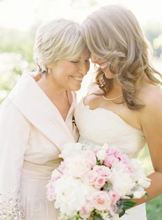 Anne Robert Photography    Mother of the bride & bride....I'd definitely would want a shot like this of my mother and I.