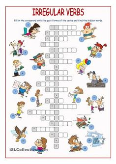 Irregular Verbs Crossword Puzzle