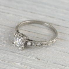.60 Carat Vintage Art Deco Engagement Ring | Vintage & Antique Engagement Rings | Erstwhile Jewelry Co NY