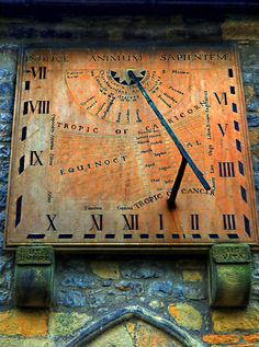 Sundial at Eyam, Derbyshire. Photograph by Declan O'Doherty.