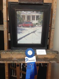 Jason Saunders. Incredibly talented guy as you can tell by the first place ribbon from Plein Air Richmond this year. No easy task! Great composition on this piece, interesting and utterly amazing! ...