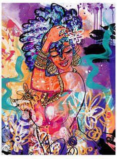 Trademark Global Justin Copelan Gold Flowers Canvas Art - x 48 African American Art, African Art, Arte Black, Flower Canvas Art, Black Art Pictures, By Any Means Necessary, Black Artwork, Black Art Painting, Black Girl Art