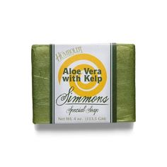 There are claims that kelp provides anti-acne properties. Kelp is a super anti-oxidant andhas the potential to detoxify the human body and rejuvenate the skin with its ability to destroy bacteria.    Loaded with over 30 different minerals and vitamins beneficial to skin, and hair. Add the healing properties of Aloe Vera you have a perfect everyday soap.    Ingredients: water, saponified: Pure Tuscan Olea Europaea (Olive) Fruit Oil; organic Elaeis Guineensis (Palm) Fruit Oil; and organic…