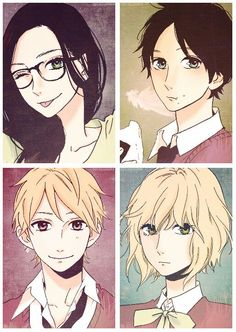 Hirunaka no Ryuusei. Gender Bender. Looks so funny! Shishio's is alright though!