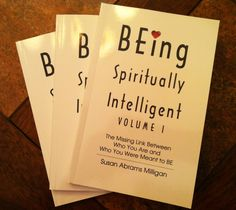 BEing Spiritually Intelligent by Susan Milliagn #graphicdesign #coverdesign #bookdesign